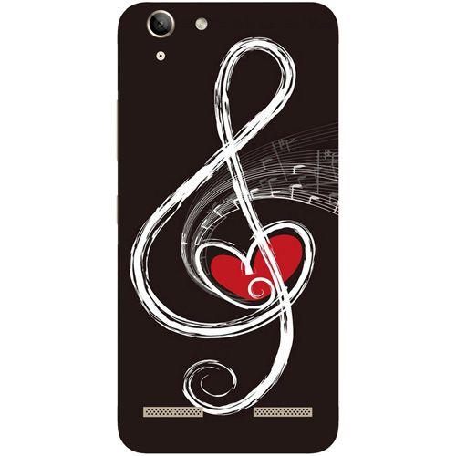 Casotec Love Note Music Design Hard Back Case Cover for Lenovo Vibe K5