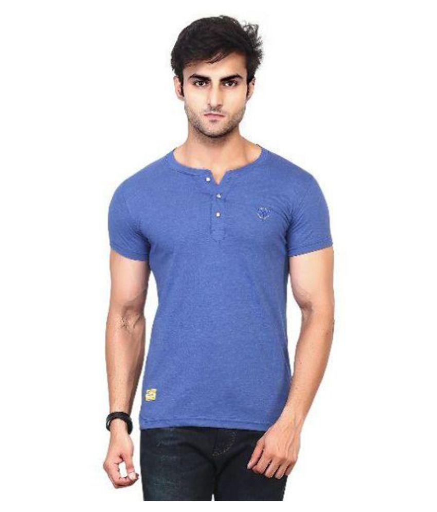 Kkoir Blue Henley T Shirt No