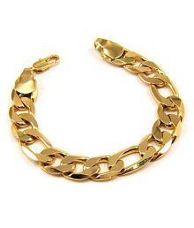 J S Imitation Jewellery Golden Brass Bracelet