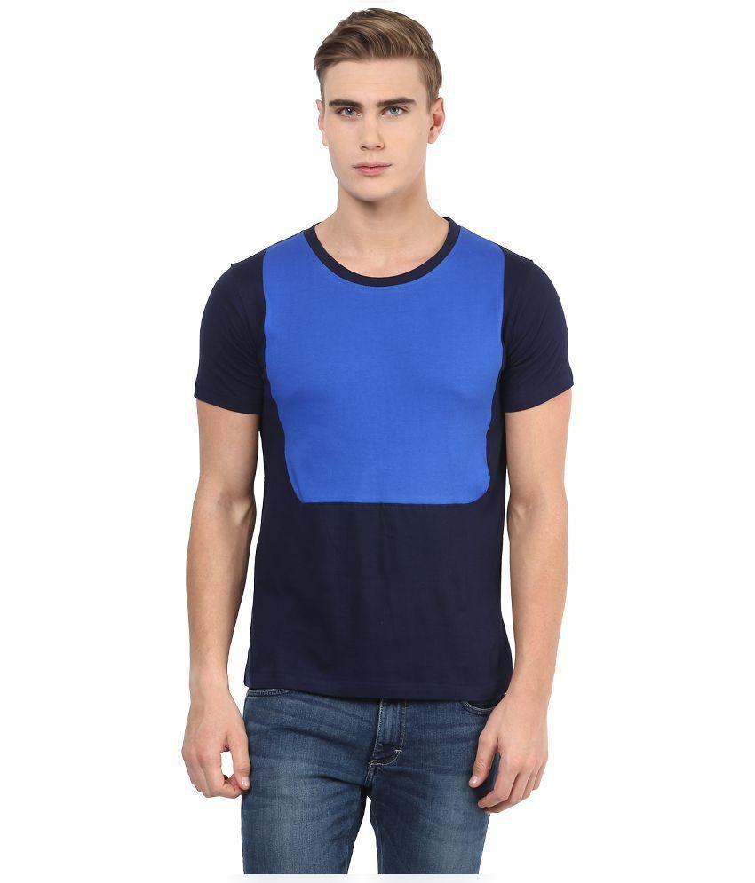 Benoit Blue Cotton T-shirt
