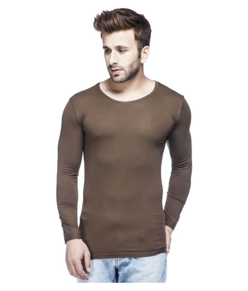 Tinted Brown Round T Shirt