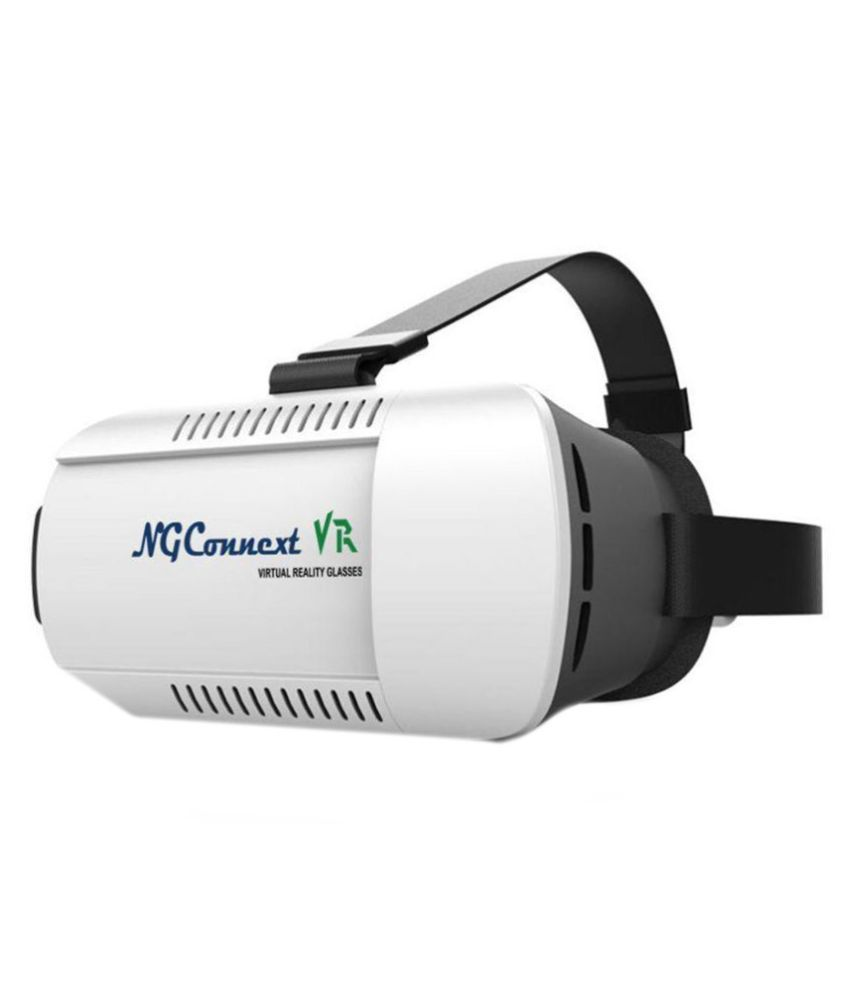 NGConnext VR-45 Virtual Reality Headset with Headstraps & Adjustable Focus for Smarphones upto 6