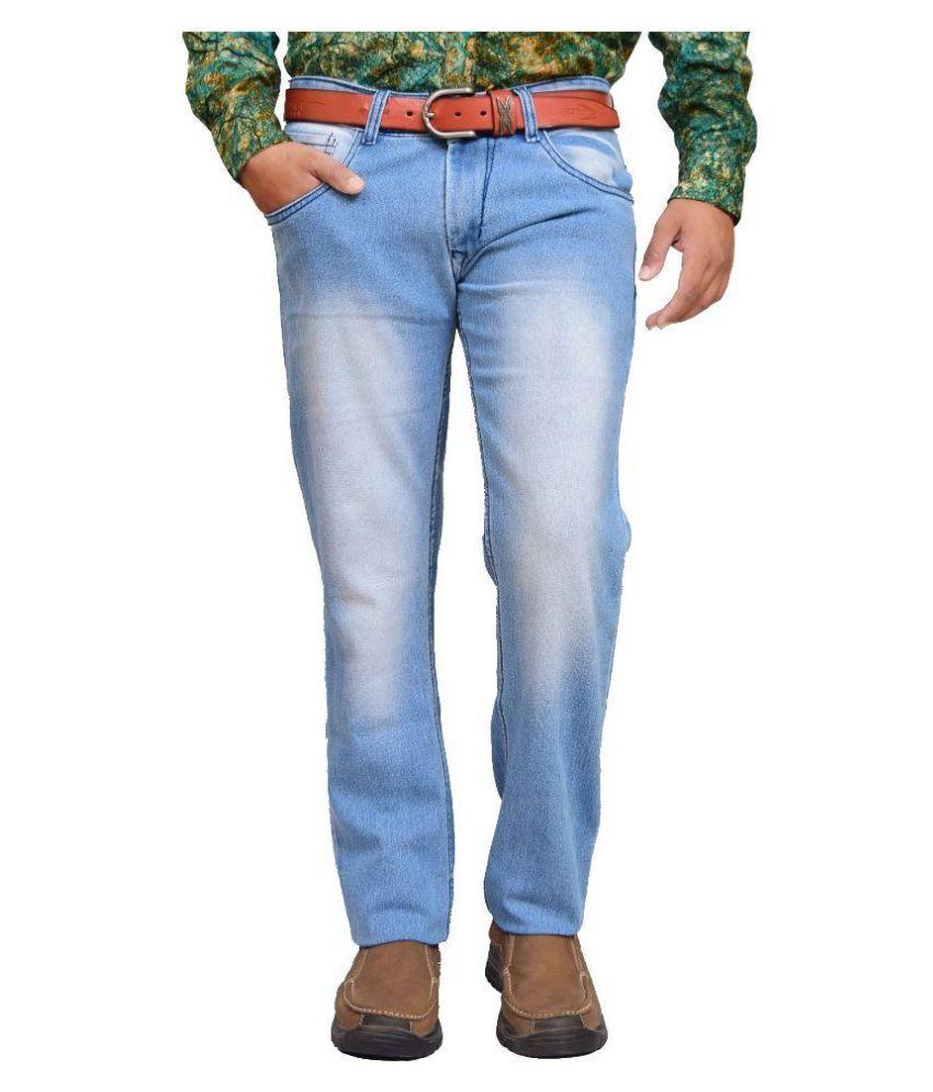 American Noti Blue Slim Fit Faded Jeans