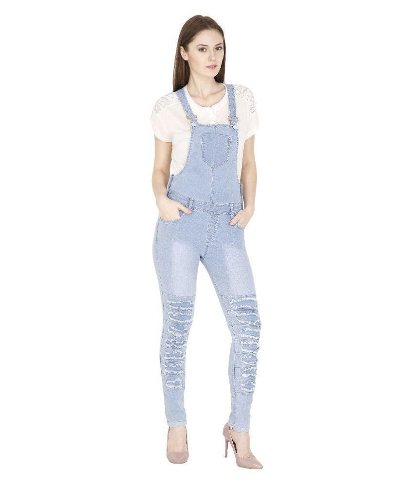 6bc641216aa9 Buy Fashmode Blue Denim Dungarees Online at Best Prices in India - Snapdeal