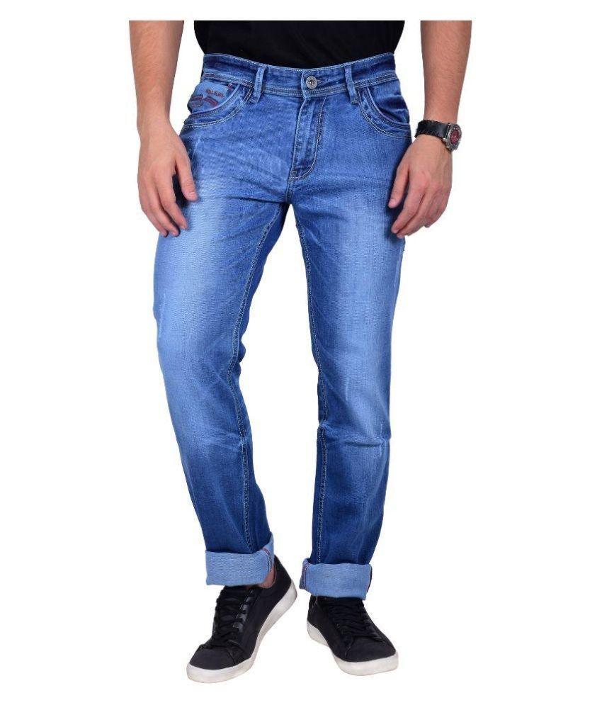 Moka Blue Slim Fit Solid Jeans
