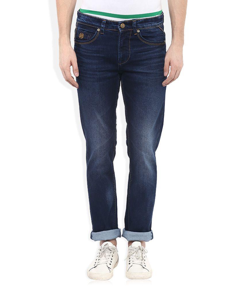 Killer Blue Slim Fit Faded Jeans