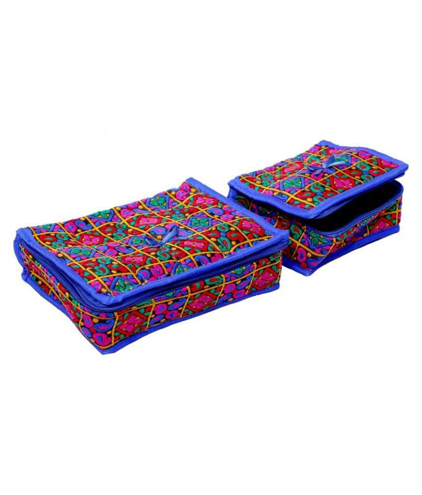 Kuber Industries Multi Color Jewellery Kit Set of 2 Pcs in heavy Quilted Material