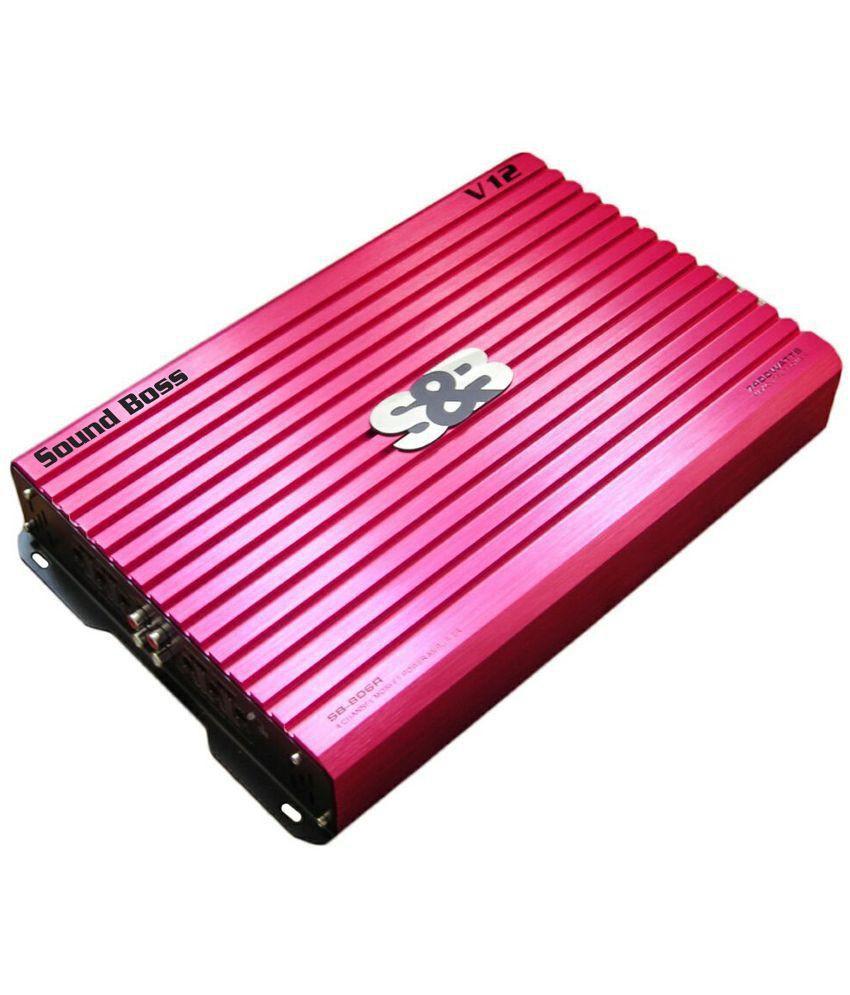 SoundBoss 7400W DUAL COIL AMP Multi Class 4 CHANNEL Car Amplifier
