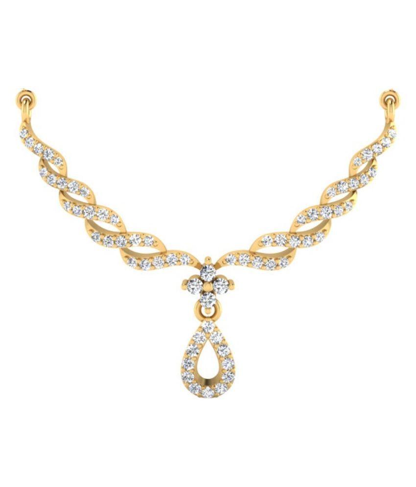 Carat Forever 14Kt Gold Diamond Mangalsutra