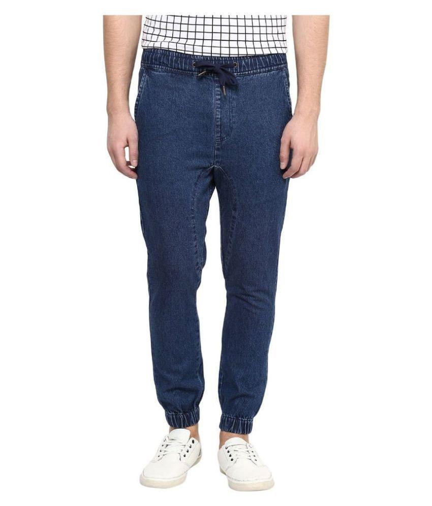 Cool Club Signature Blue Regular Fit Jogger Jeans