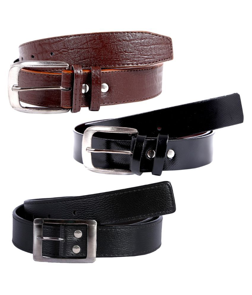 Hardy's Collection Multicolor Belt for Men - Pack of 3