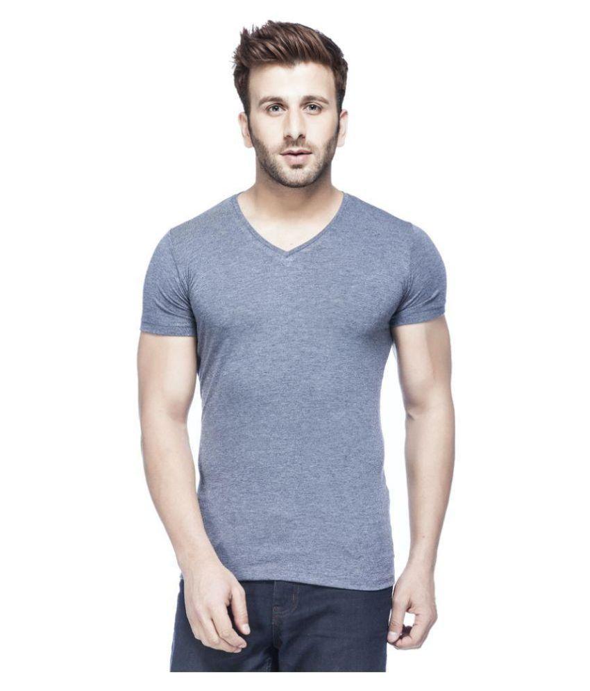 Tinted Grey V-Neck T Shirt