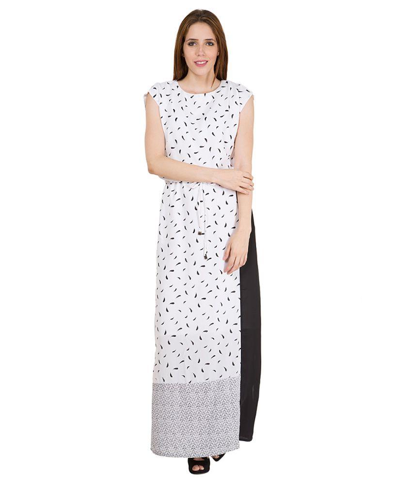 Tokyo Talkies White Boat Neck Dress