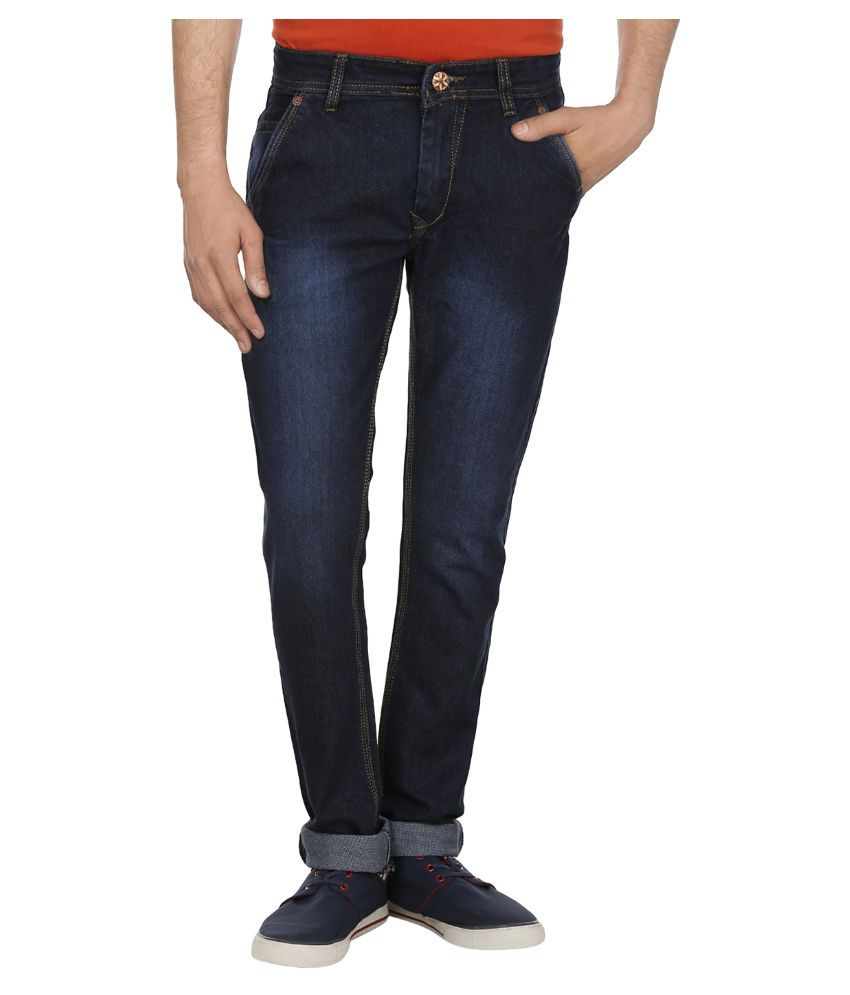 Absolute Blue Slim Fit Washed Jeans