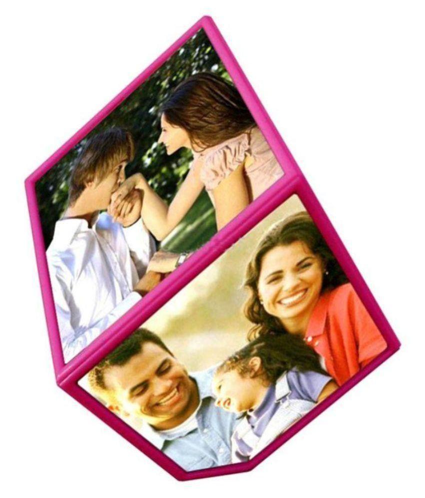 E-gift Mart Plastic TableTop Pink Photo Frame Sets