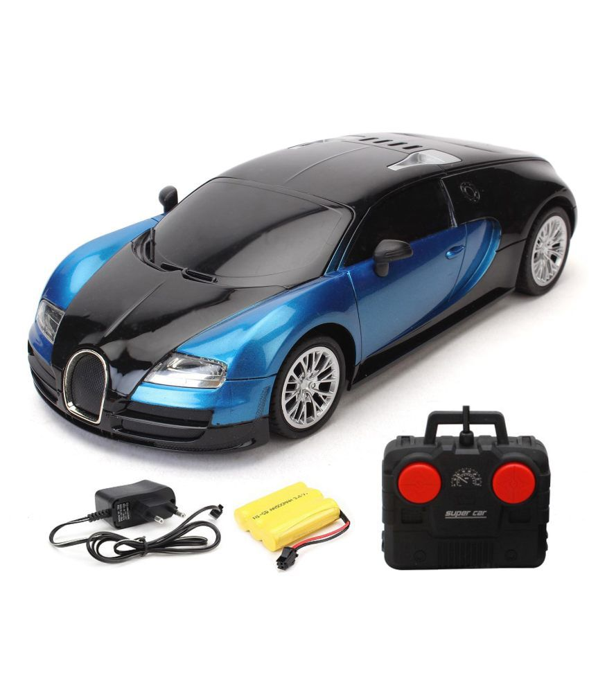 flipzon blue rc bugatti veyron 1 16 rechargeable toy car buy rh snapdeal com