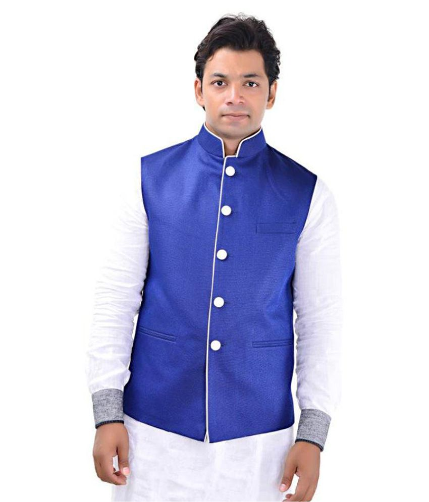 MD Fashion Blue Party Waistcoats