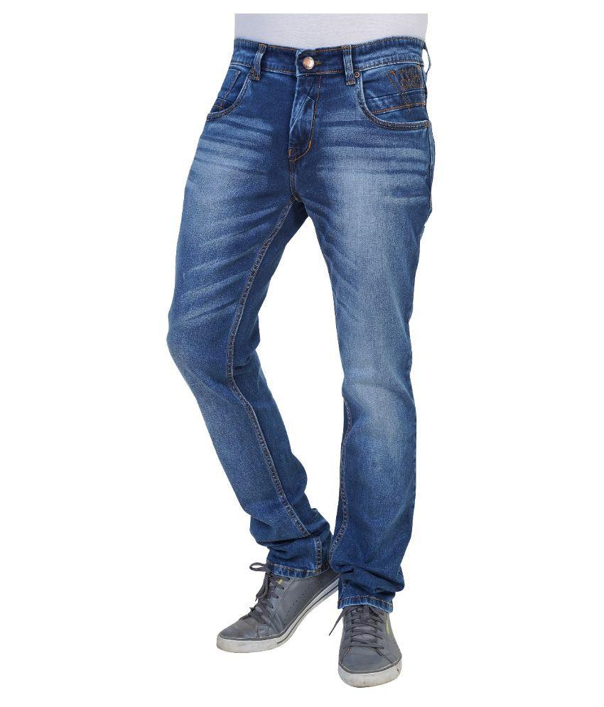 Thames Blue Regular Fit Faded Jeans
