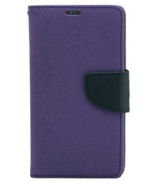 super popular 5d714 e196d Jma Premium Dairy Wallet Case Cover For Micromax Canvas Doodle A111 - Purple