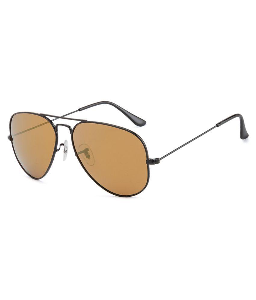 Velocity Brown Aviator Sunglasses ( VCMIR3025 )