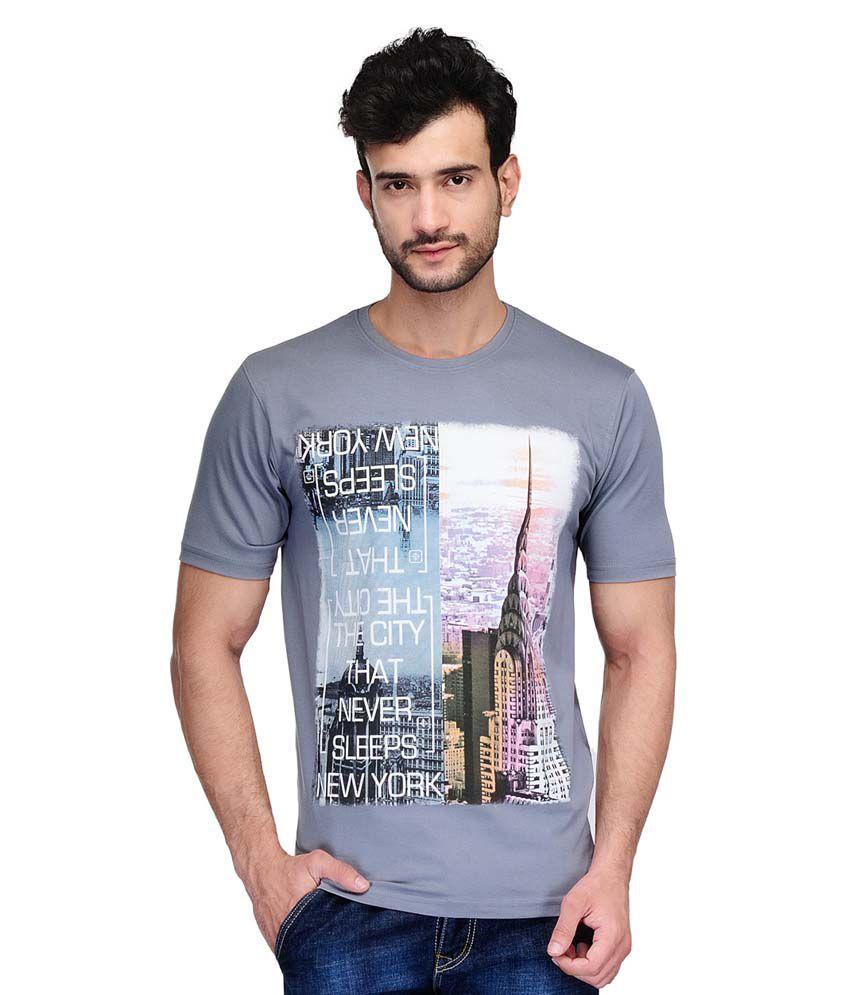 Ausy Grey Round T Shirt