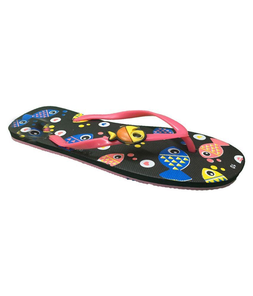 Shoe Lab Orange Flip Flops