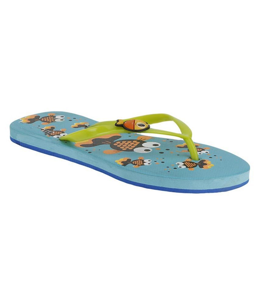 Shoe Lab Yellow Flip Flops