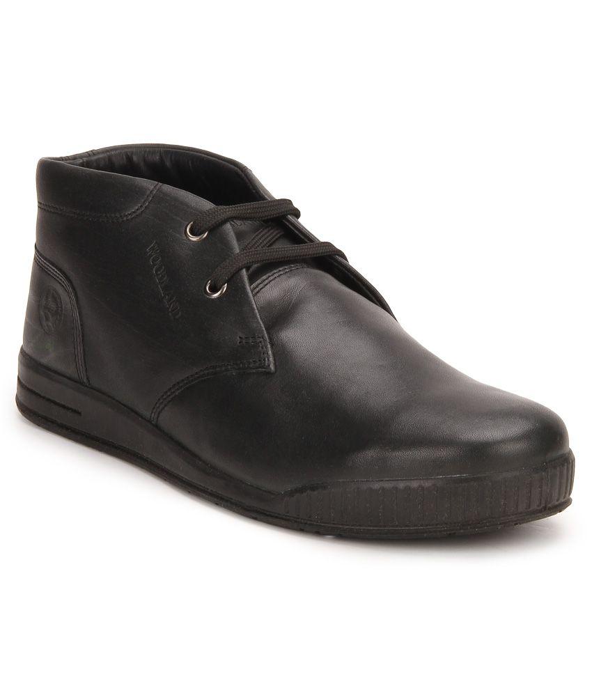 Woodland Black Boots
