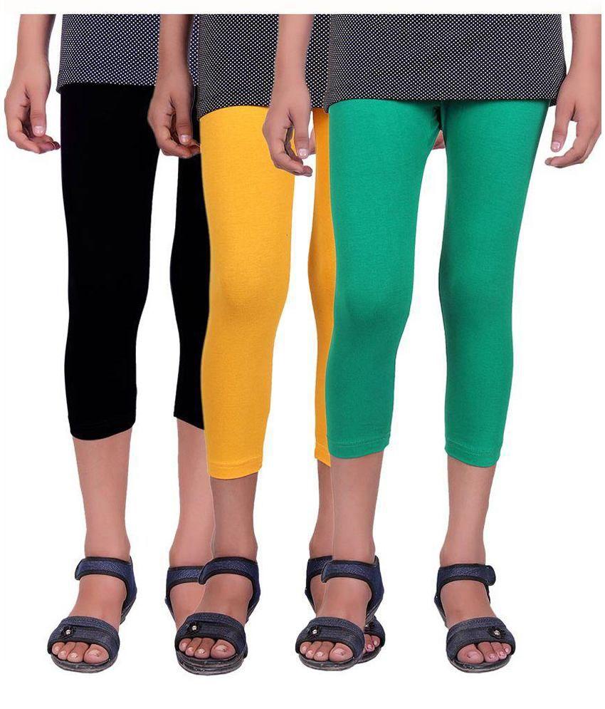 Alisha Multicolor Capris For Girls - Pack Of 3