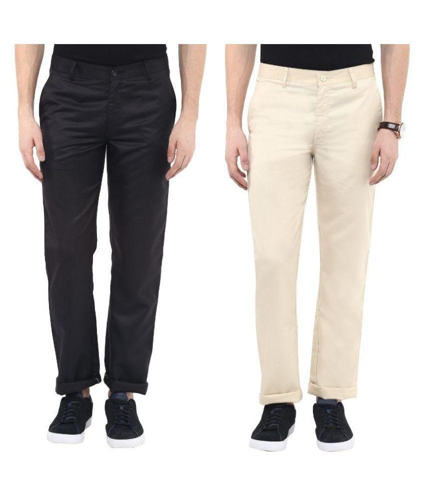 Urbano Fashion Multi Regular Flat Trouser