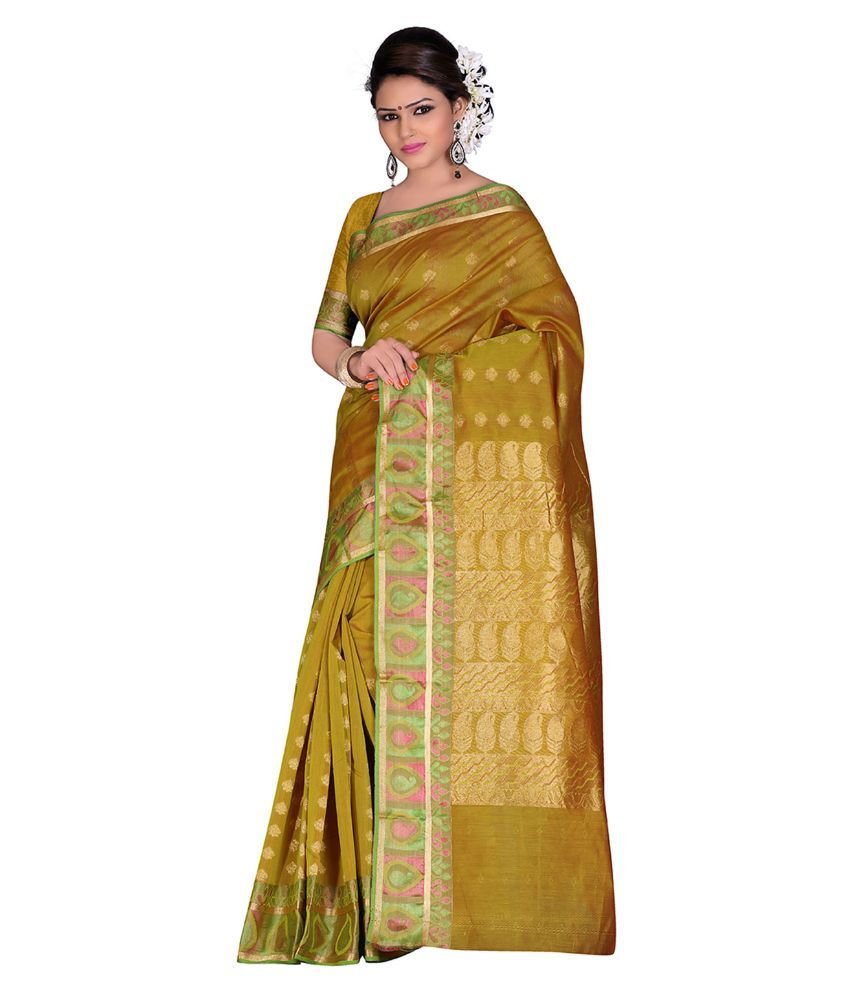Anusha Golden Cotton Saree