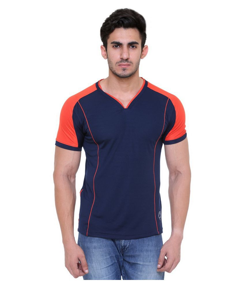 Hikes Navy Polyester T-Shirt