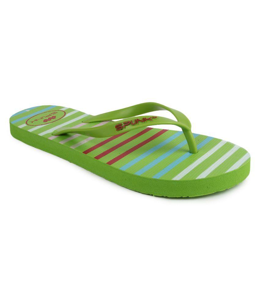 Spunk Green Flip Flops