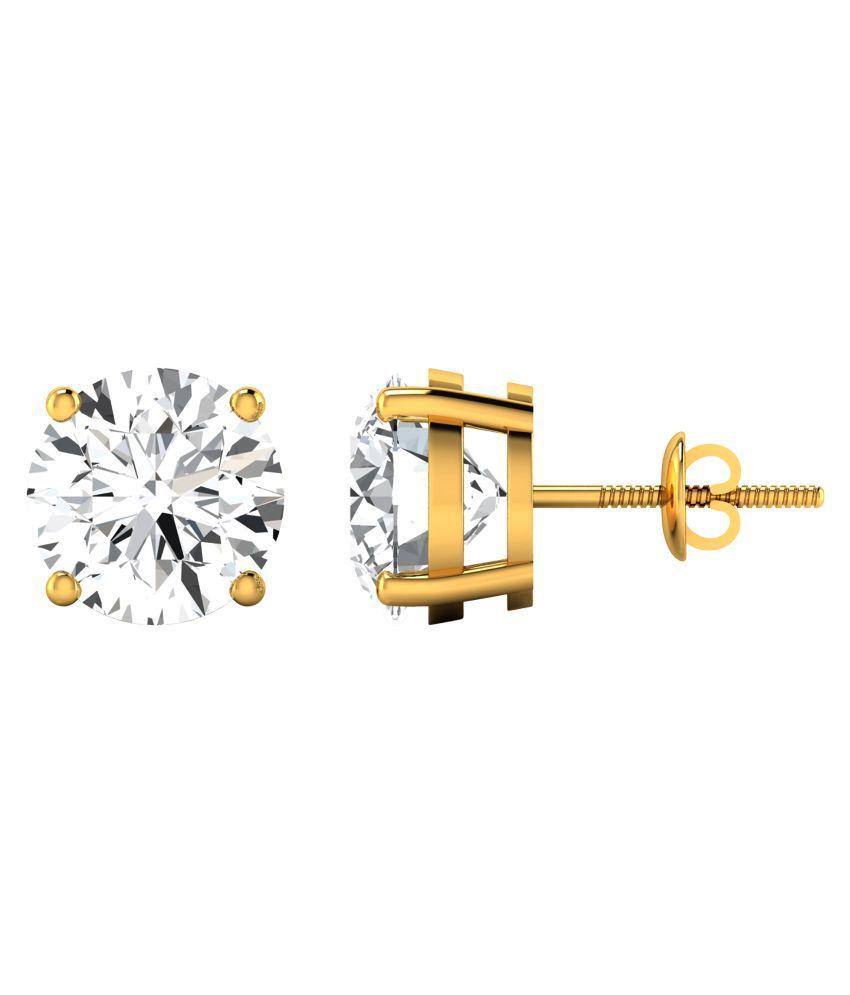 Diamond Farm 18kt BIS Hallmarked Gold Diamond Studs