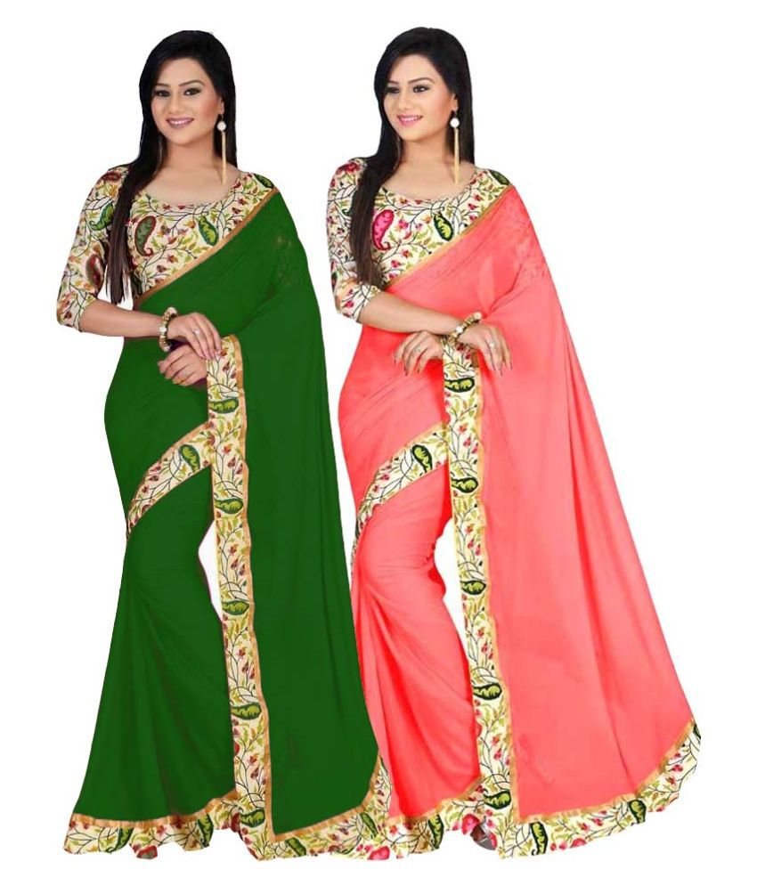 Bhuwal Fashion Multi Color Bhagalpuri Silk Saree Combos