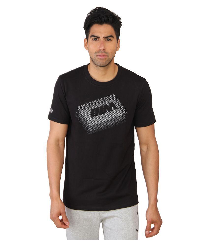 Puma Black Round T Shirt