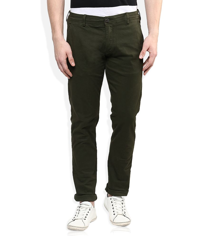 Selected Green Slim Fit Chinos