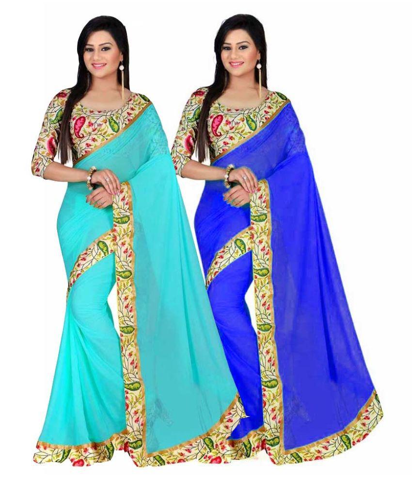 Stylezone Multicoloured Bhagalpuri Silk Saree Combos