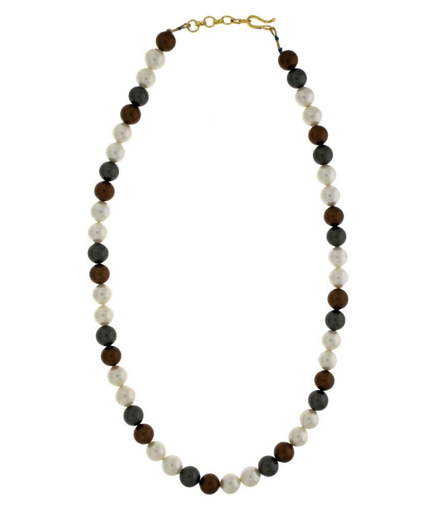 Anuradha Art Beads Beads Studded Multi Coloured Necklace