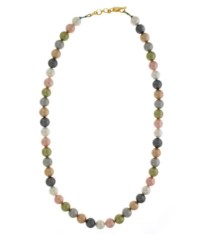 Anuradha Art Beads Studded Multi Coloured Necklace