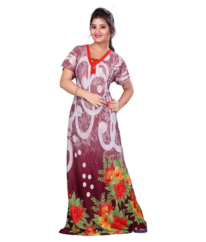 Mahaarani Multi Color Lycra Nighty & Night Gowns