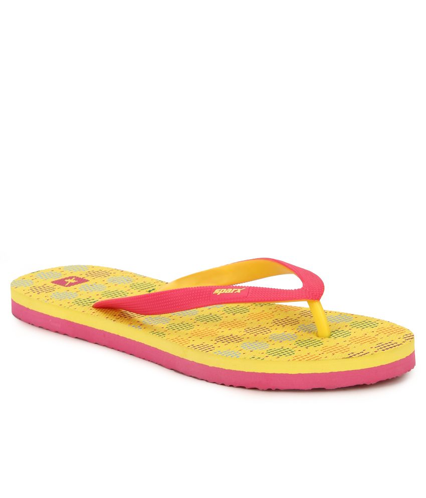Sparx Yellow Flip Flops