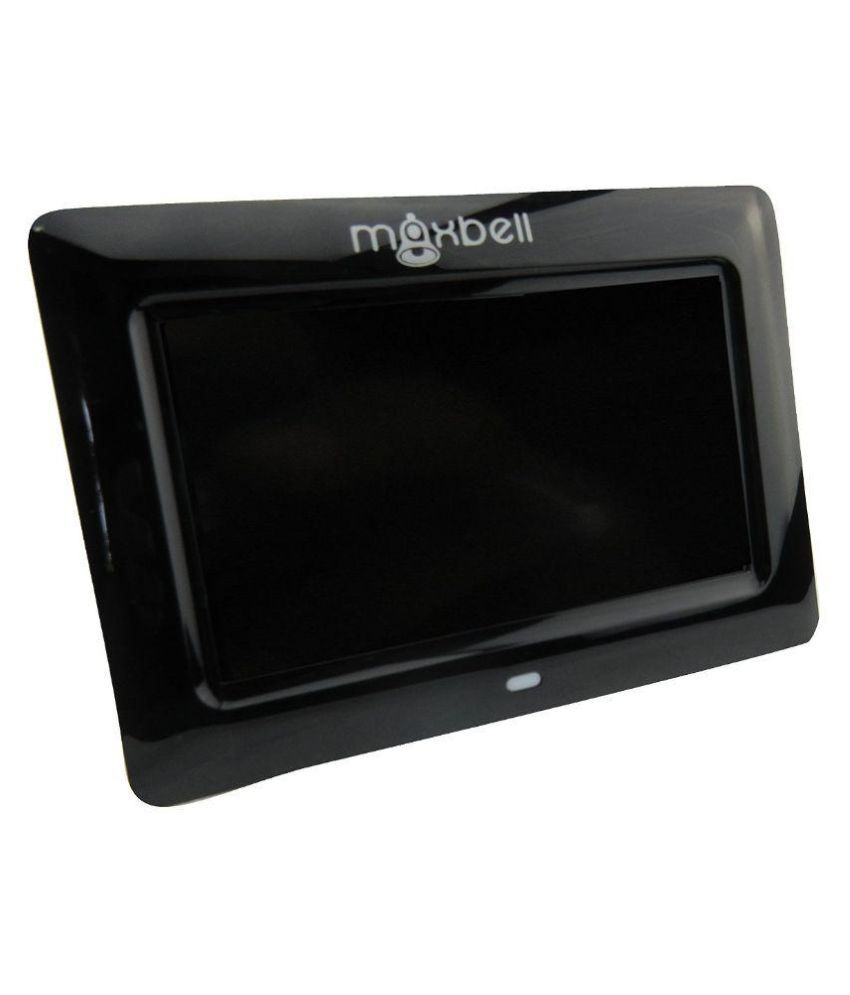 Maxbell Black LCD Wired Digital Picture Photo Frame with USB Port ,Video Movies Playback Feature