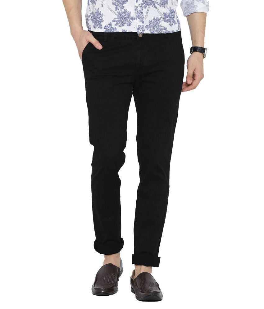 Hubberholme Black Slim Fit Chinos