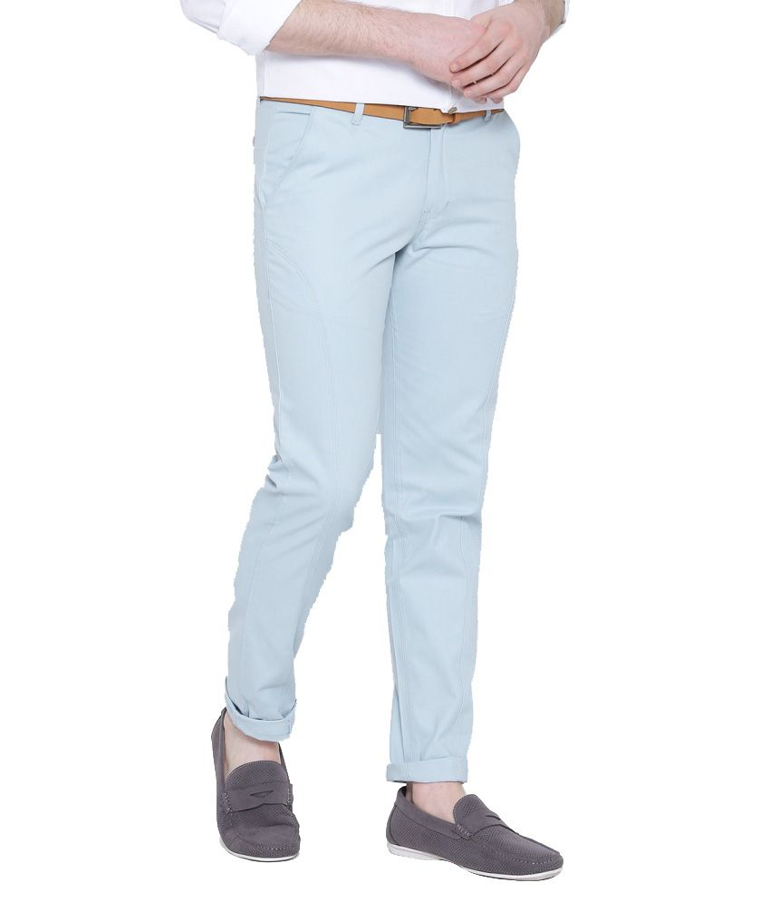 Hubberholme Blue Slim Fit Chinos