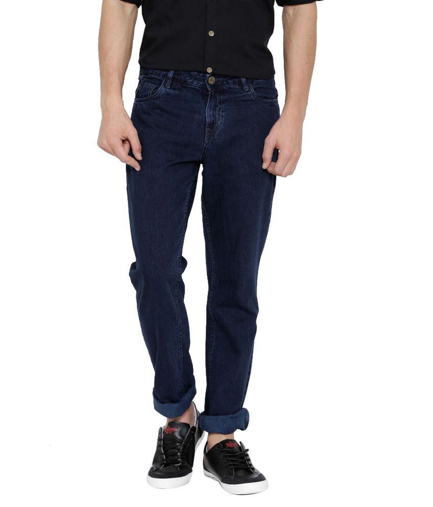 Hubberholme Blue Slim Fit Solid Jeans
