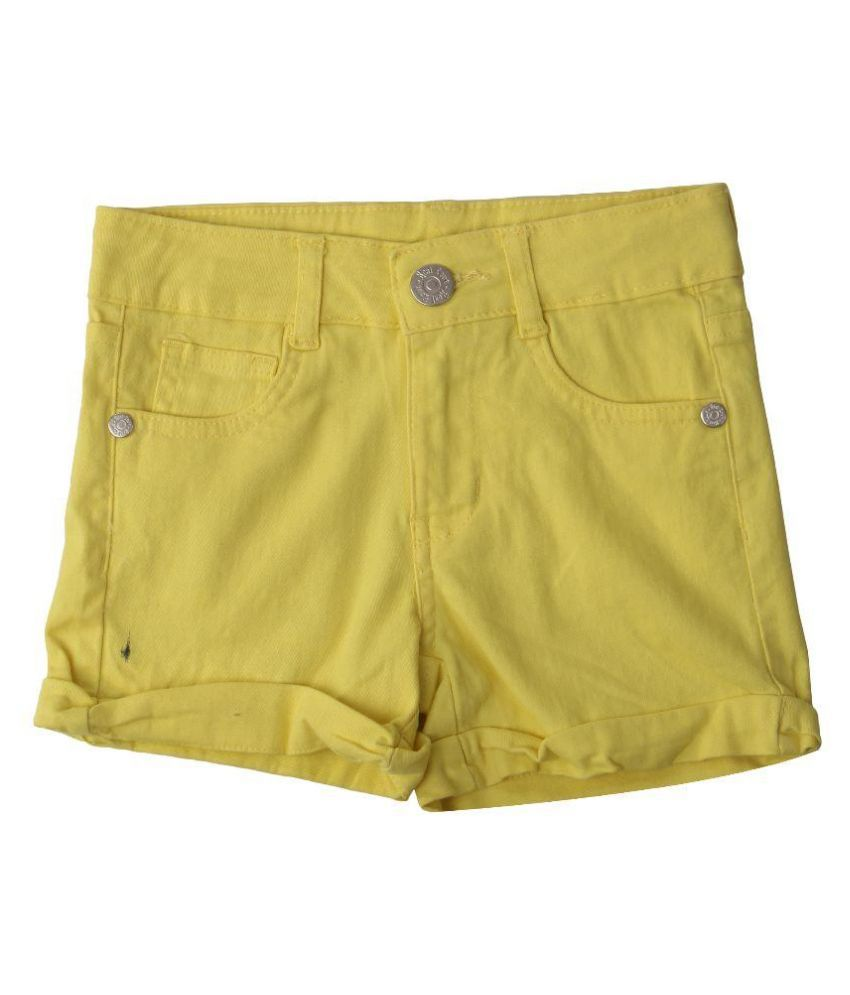 Innocent kids Yellow Shorts for Girls