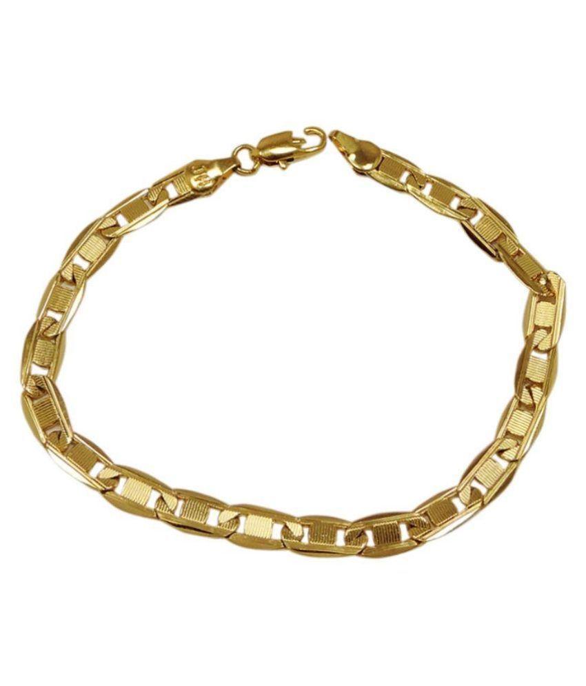 Sanaa Creations Alloy Studded Gold Coloured Bracelet