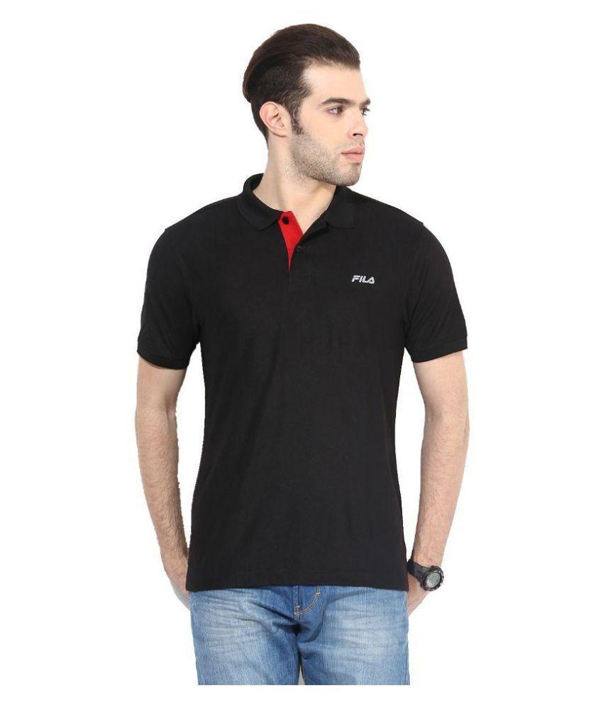 Fila Black Polo T Shirts