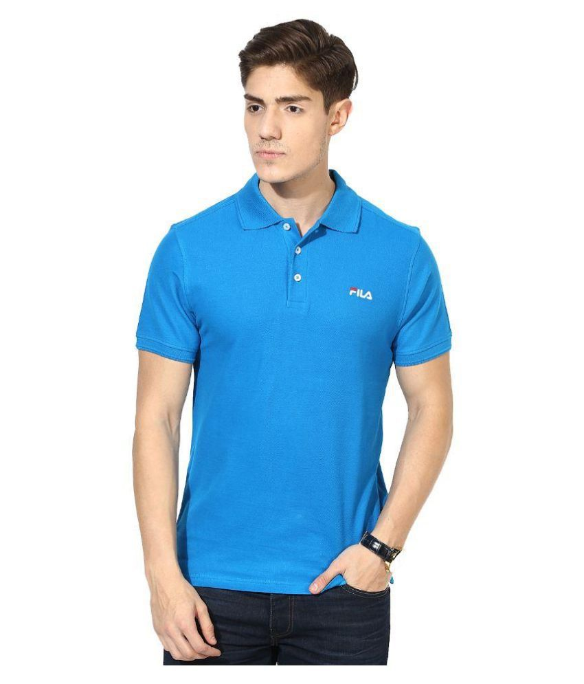Fila Blue Polo T Shirts